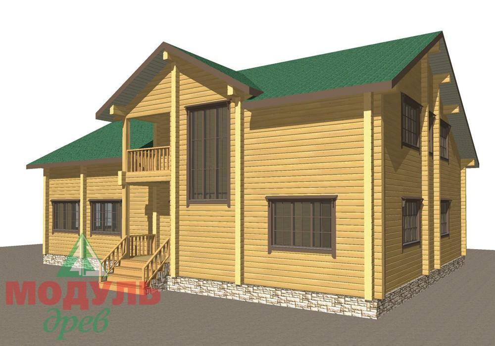Дом из бруса «Кулой» - макет 2