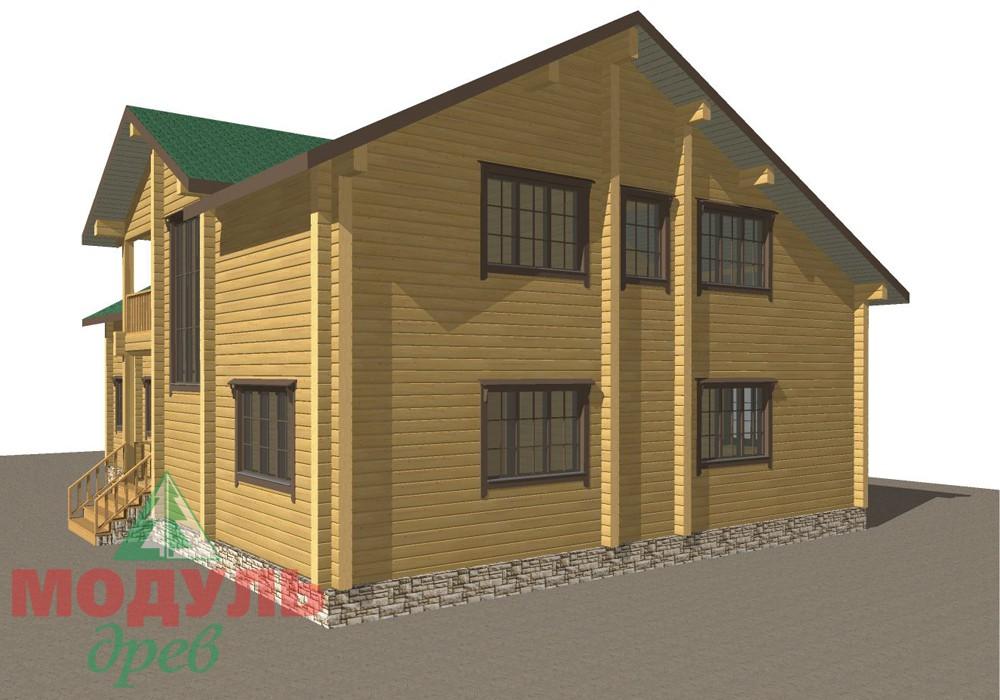 Дом из бруса «Кулой» - макет 3