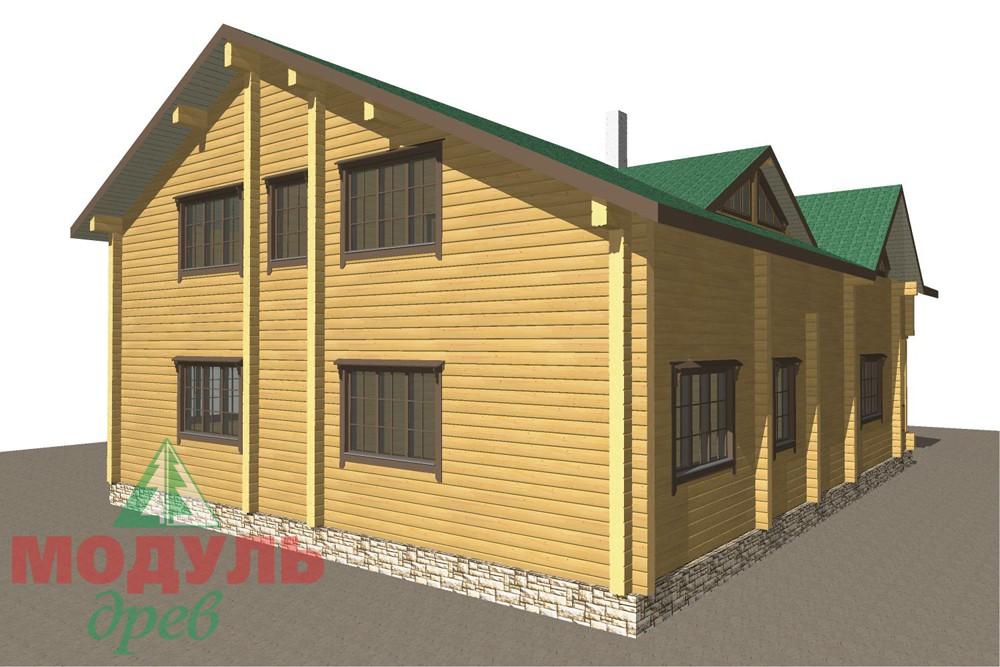 Дом из бруса «Кулой» - макет 5