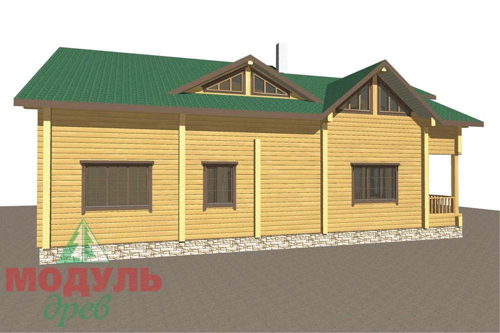 Дом из бруса «Кулой» - макет 6