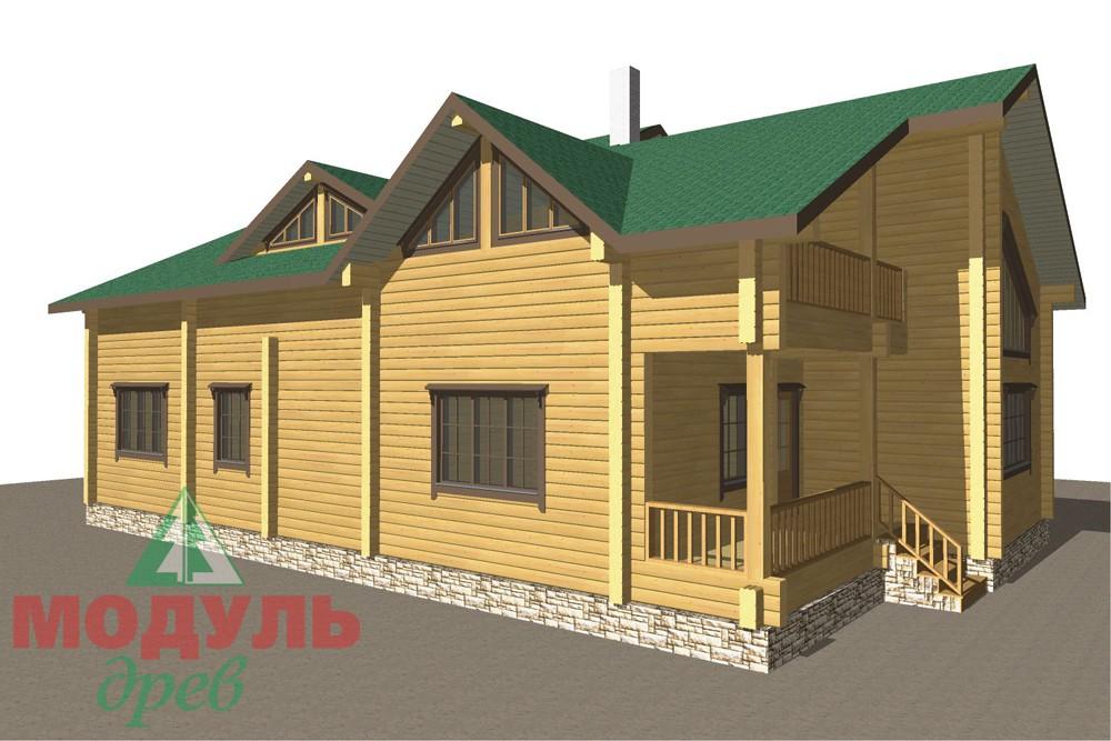 Дом из бруса «Кулой» - макет 7