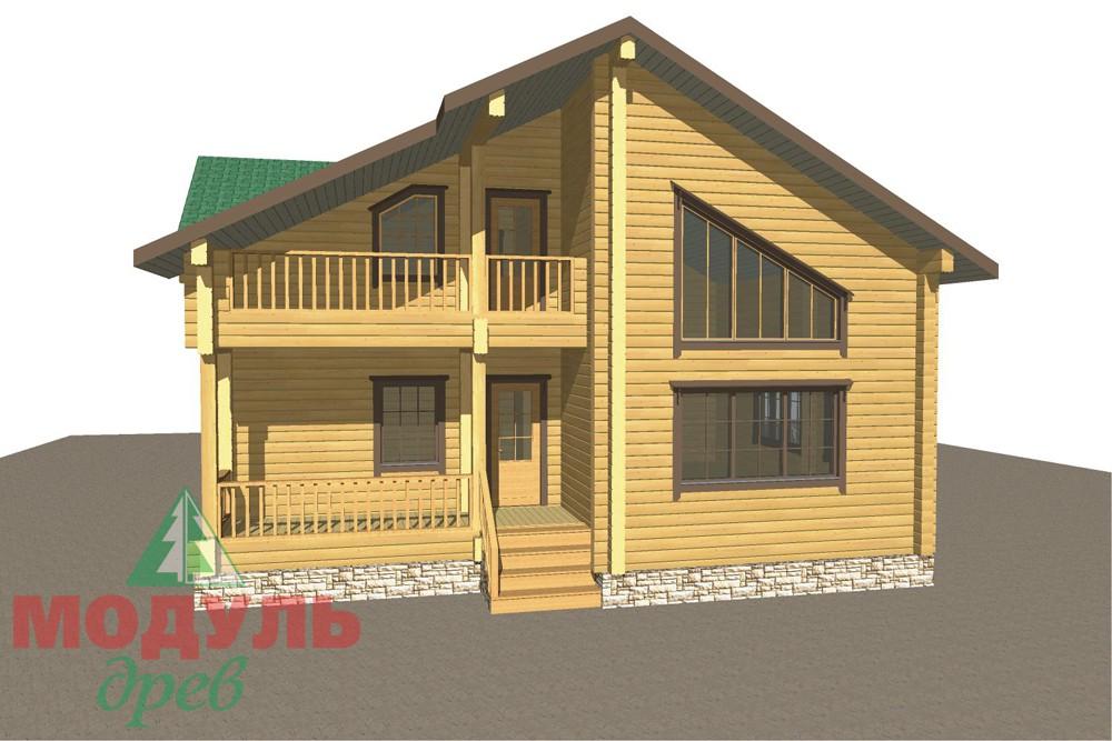 Дом из бруса «Кулой» - макет 8