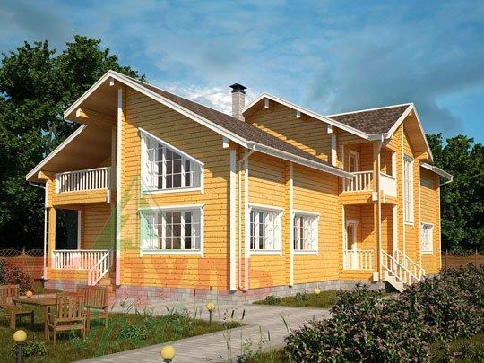Проект дома из бруса «Кулой»