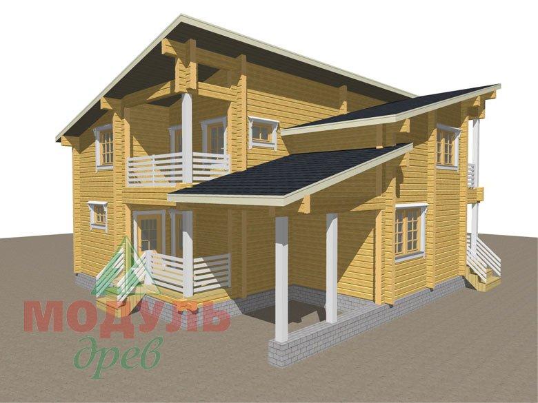 Проект дома из бруса «Кунгур» - макет 1