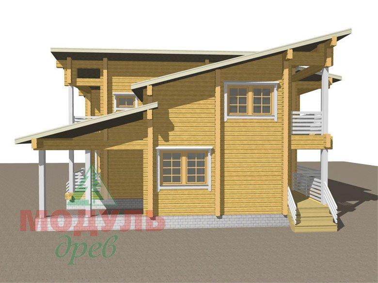 Проект дома из бруса «Кунгур» - макет 2
