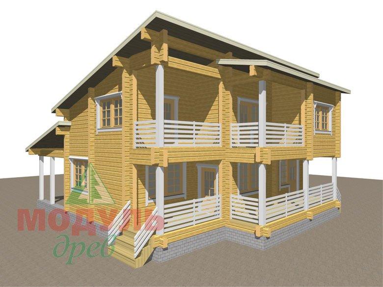 Проект дома из бруса «Кунгур» - макет 3