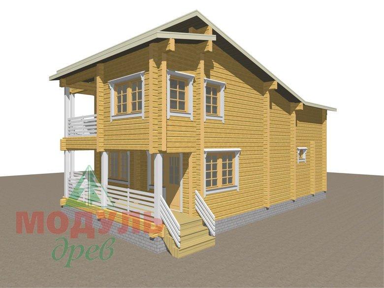 Проект дома из бруса «Кунгур» - макет 4