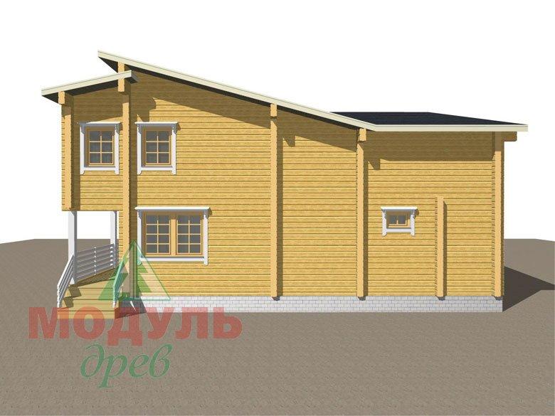 Проект дома из бруса «Кунгур» - макет 5