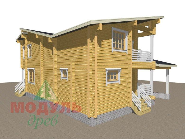 Проект дома из бруса «Кунгур» - макет 6