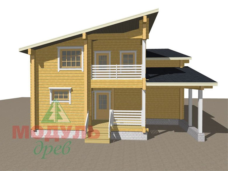 Проект дома из бруса «Кунгур» - макет 7