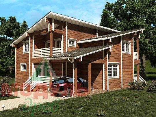 Проект дома из бруса «Кунгур»