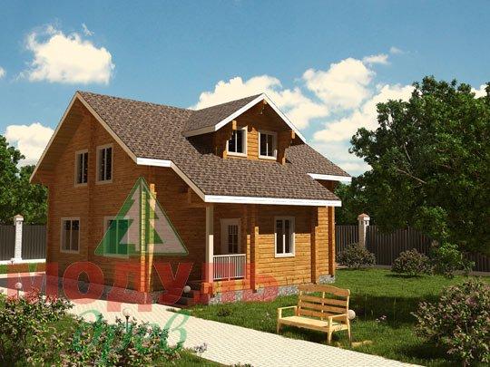 Проект деревянного дома из бруса «Курган»