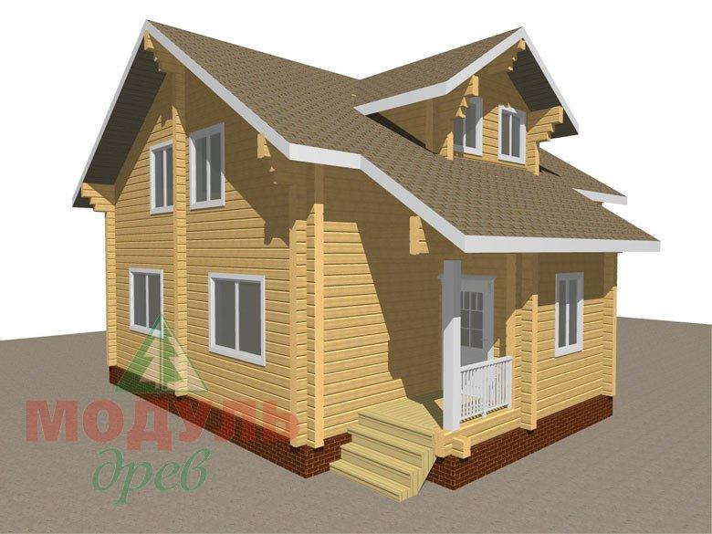 Проект дома из бруса «Курган» - макет 1