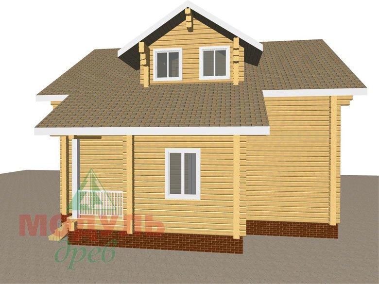 Дом из бруса «Курган» - макет 2