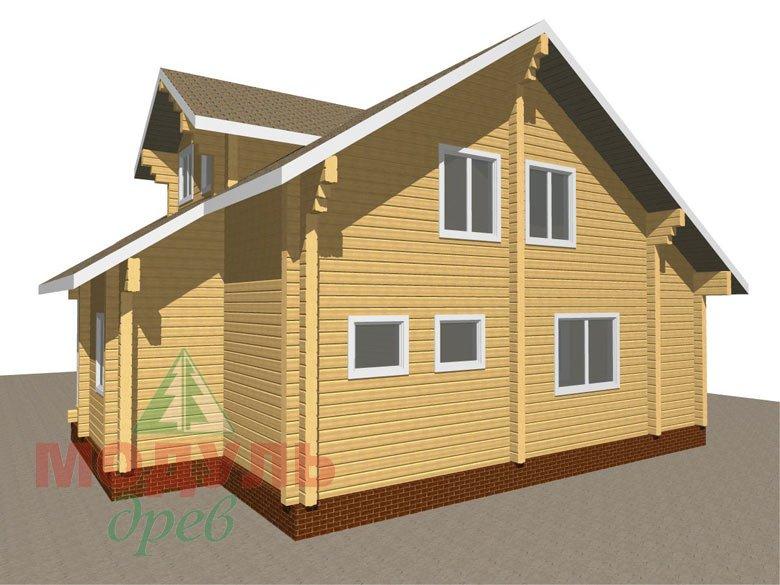 Дом из бруса «Курган» - макет 3