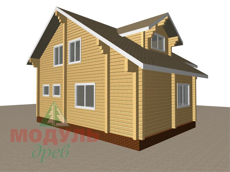 Дом из бруса «Курган» - макет 4