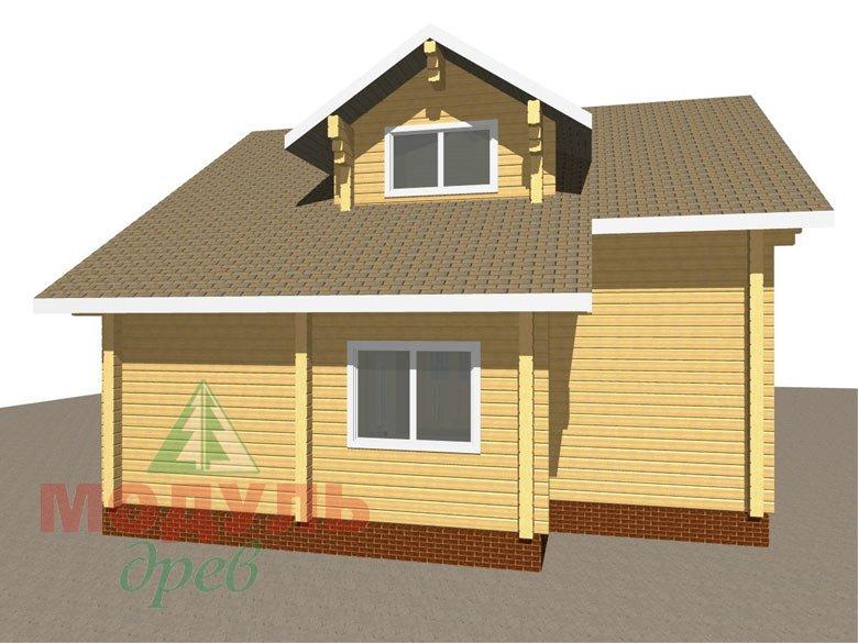 Дом из бруса «Курган» - макет 5