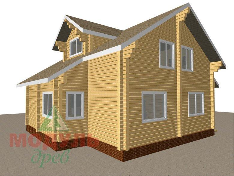 Дом из бруса «Курган» - макет 6
