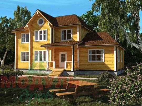 Проект деревянного дома из бруса «Ладино»
