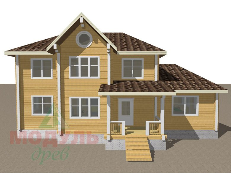 Проект деревянного дома из бруса «Ладино» - макет 1