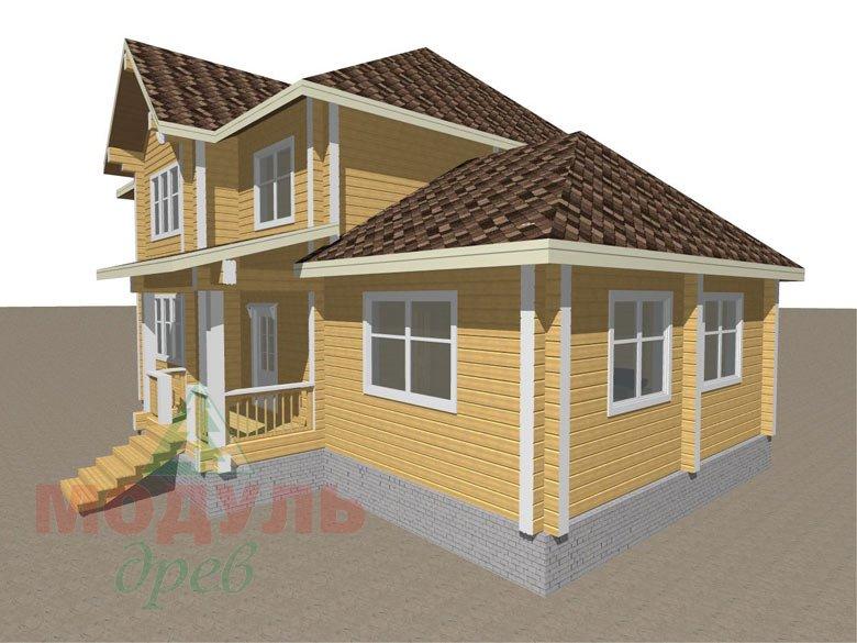 Деревянный дом из бруса «Ладино» - макет 2