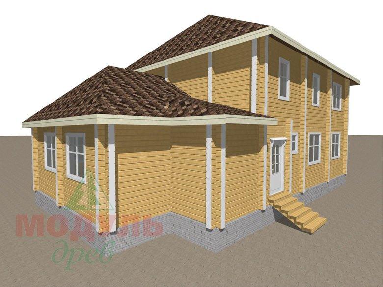 Деревянный дом из бруса «Ладино» - макет 3
