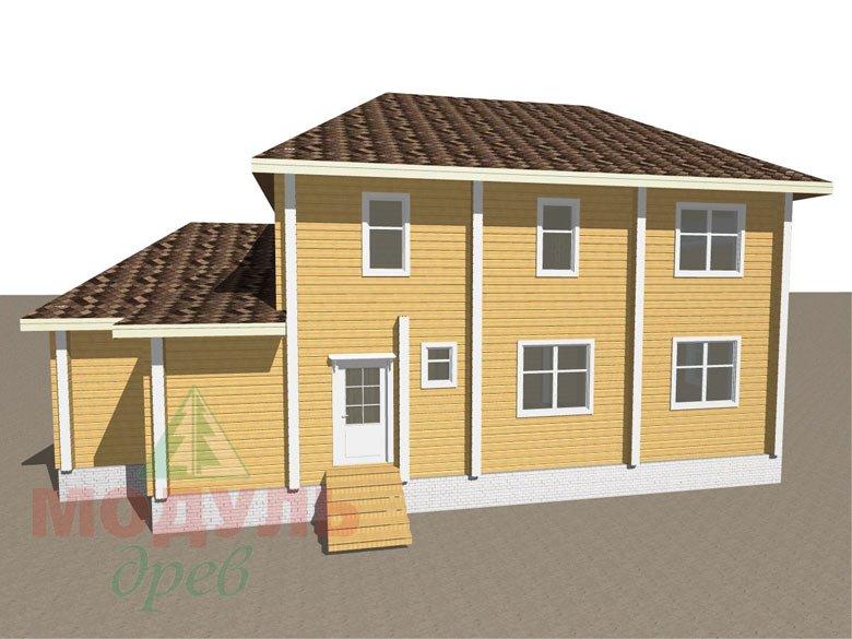 Деревянный дом из бруса «Ладино» - макет 4