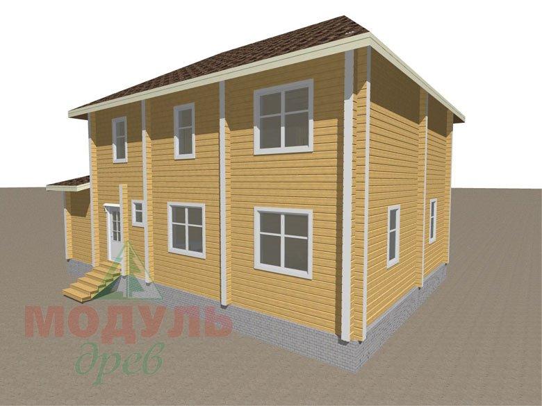 Деревянный дом из бруса «Ладино» - макет 5