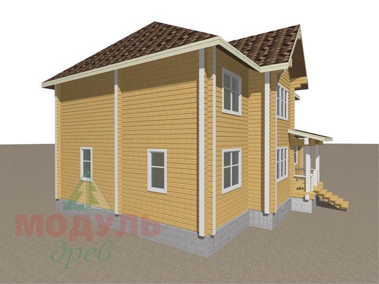 Деревянный дом из бруса «Ладино» - макет 6