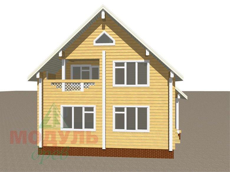 Проект дома из бруса «Ладога» - макет 1