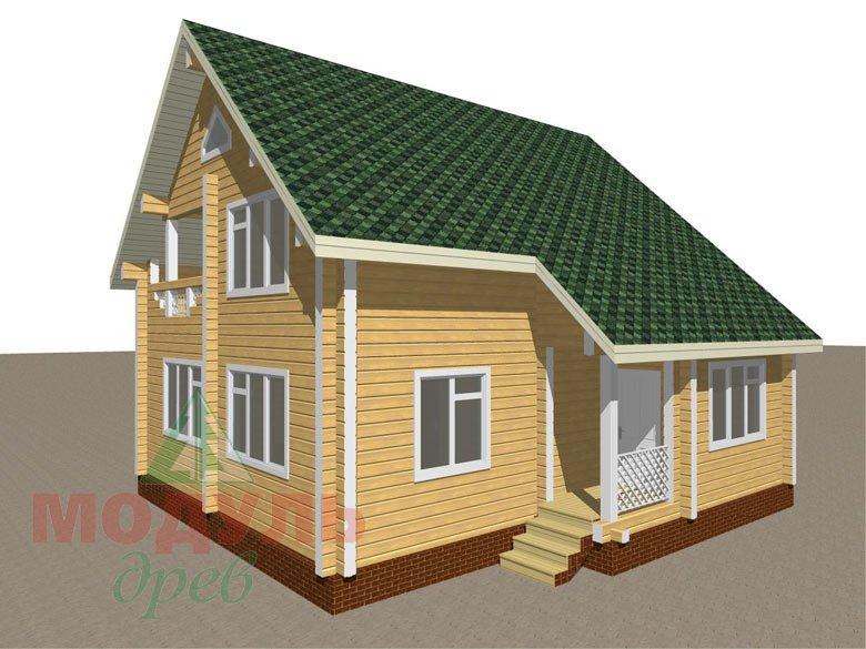 Дом из бруса «Ладога» - макет 2