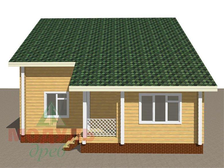 Дом из бруса «Ладога» - макет 3