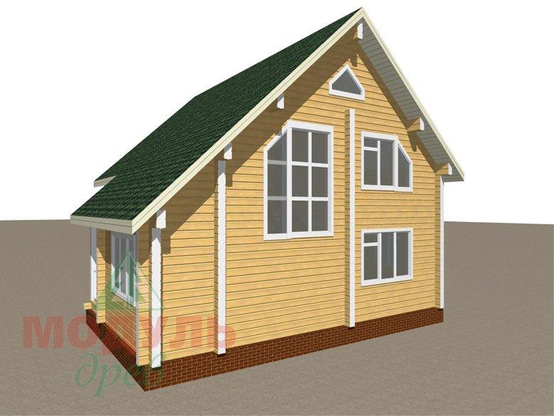 Дом из бруса «Ладога» - макет 4