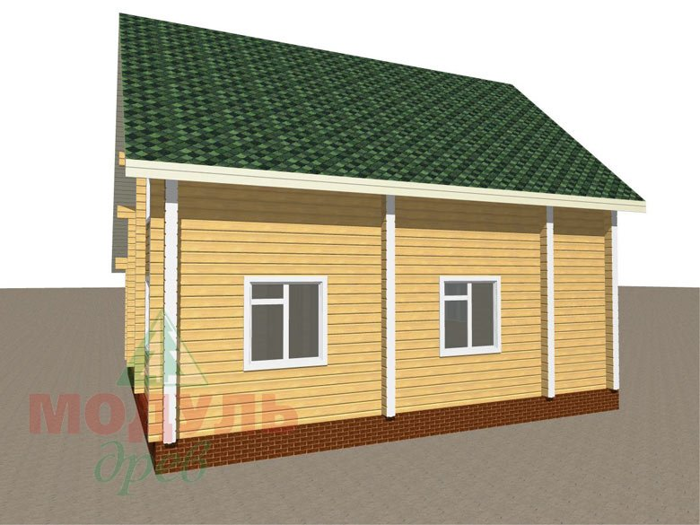Дом из бруса «Ладога» - макет 6