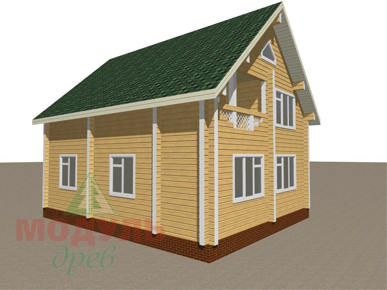Дом из бруса «Ладога» - макет 7