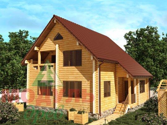 Проект загородного дома из бруса «Ладога»