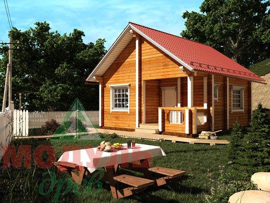 Проект дома из бруса «Лето»