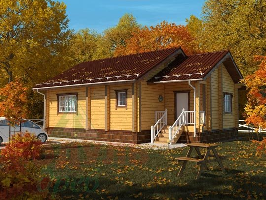 Проект дома из бруса «Лион»