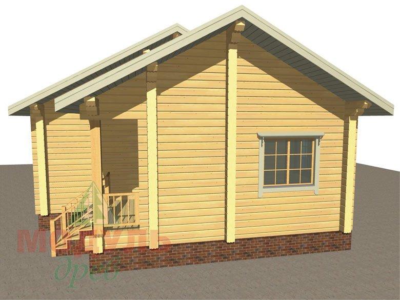 Дом из бруса «Лион» макет 2