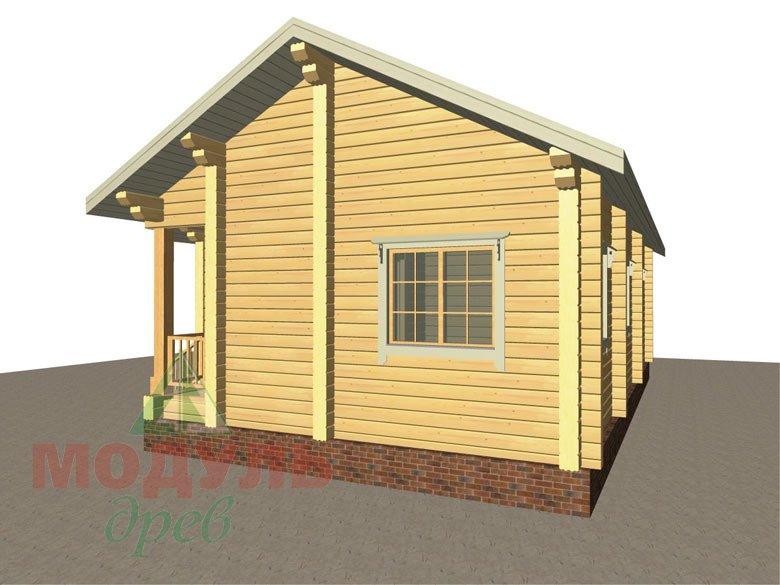 Дом из бруса «Лион» макет 3