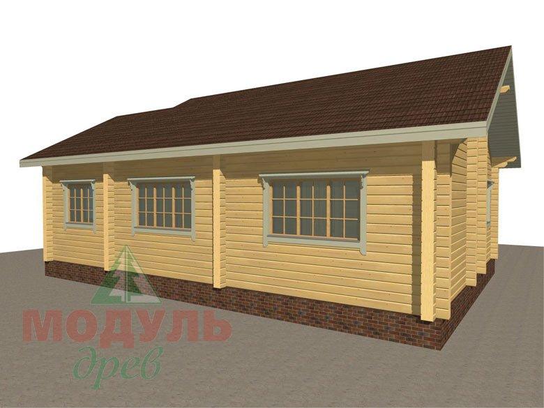 Дом из бруса «Лион» макет 5