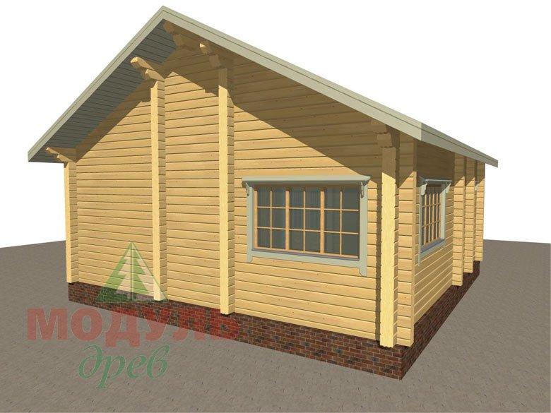 Дом из бруса «Лион» макет 7