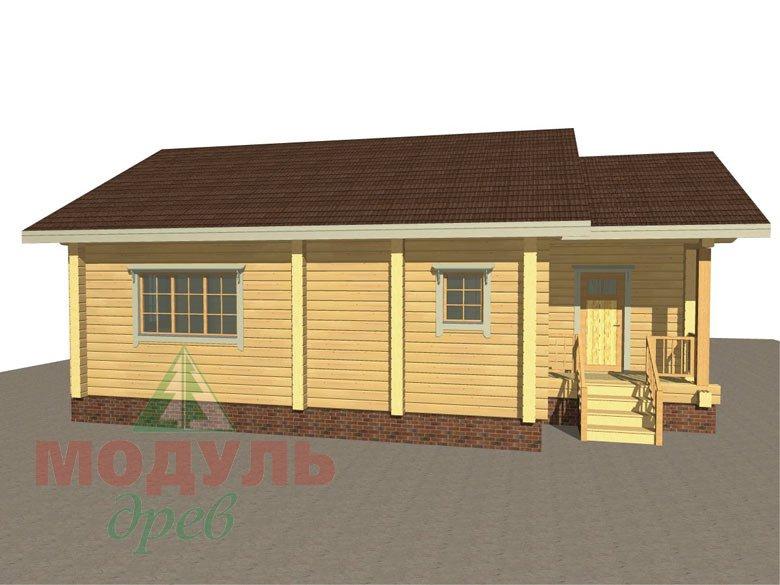 Дом из бруса «Лион» макет 8