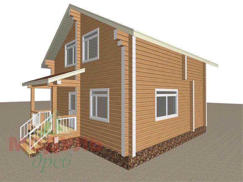 Дом из бруса «Луговой» - макет 2