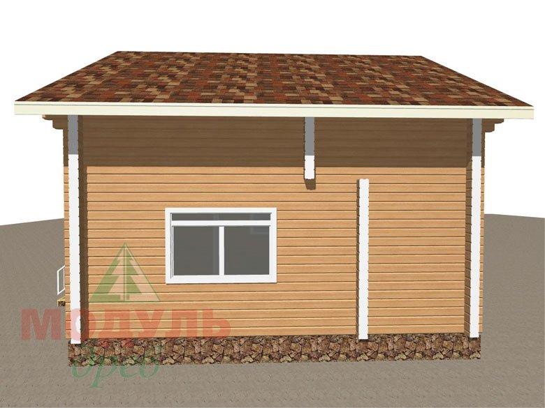 Дом из бруса «Луговой» - макет 3