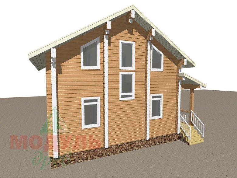 Дом из бруса «Луговой» - макет 4