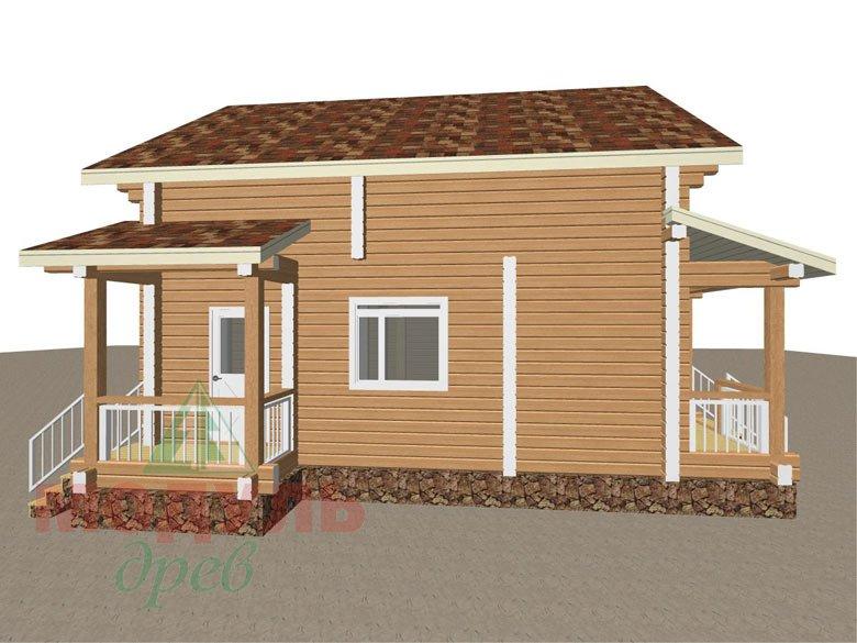 Дом из бруса «Луговой» - макет 6