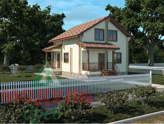 Проект дома из бруса «Луговой»