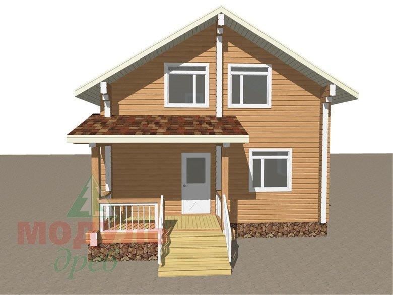 Проект дома из бруса «Луговой» макет 1