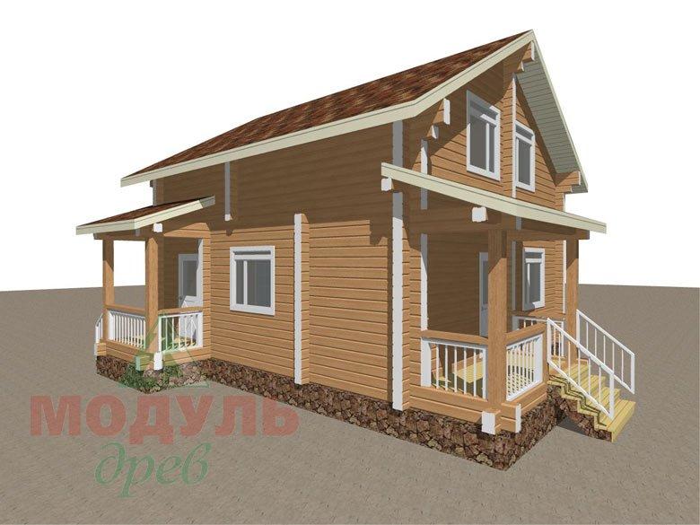 Дом из бруса «Луговой» - макет 7